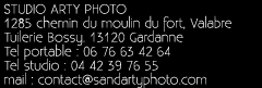 adresse studio photo sand arty à Gardanne